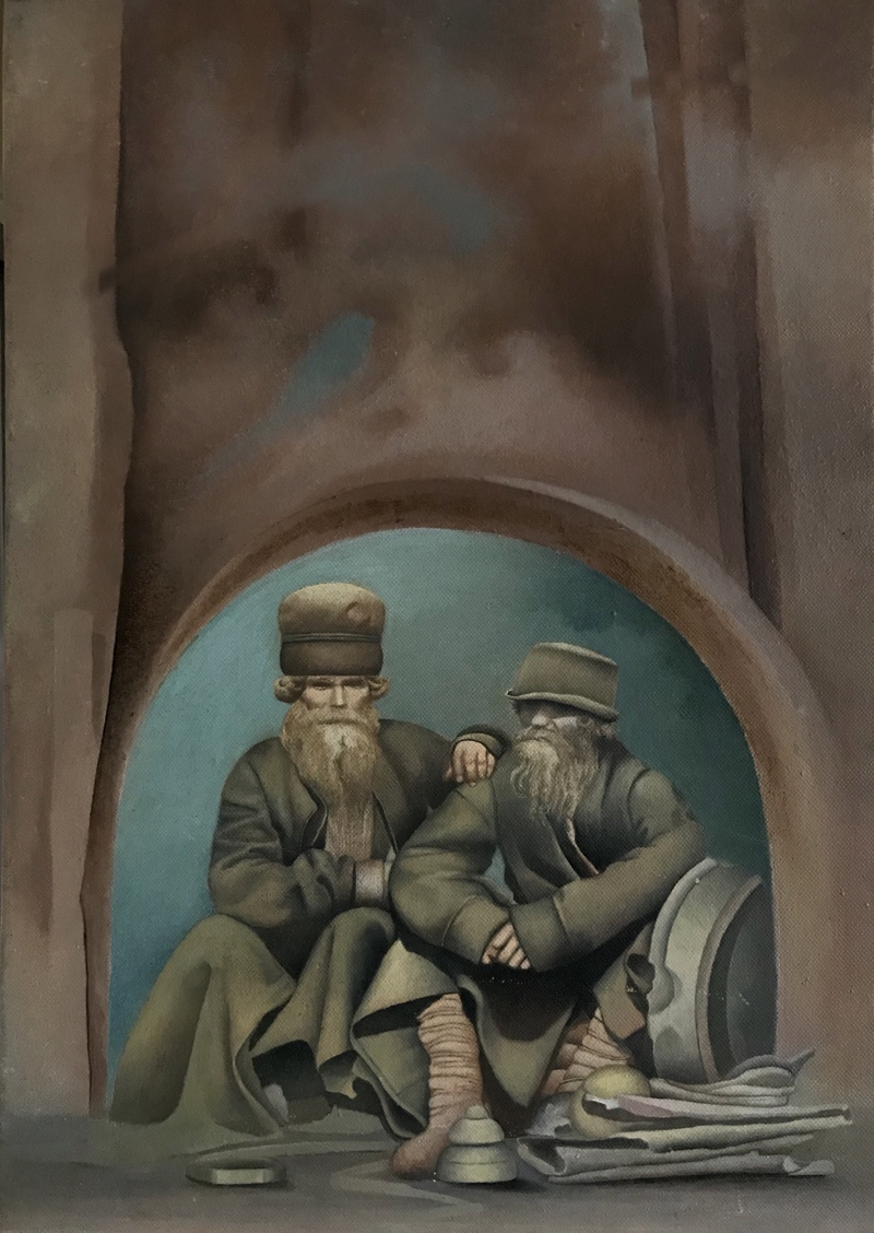 oil on canvas<br> .